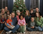 Mike and Patty (Wenzell) with family--6 children, 4 grandchildren, 1 daughter-in-law--12-06