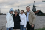 On the dyke in Holland,  Mike and Patty (Wenzell) Alexander with daughters, Faith and Laura    12-06