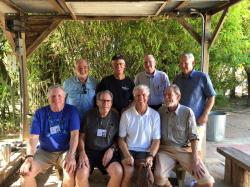 . From back left: Joe Alley, Mike Mahoney, Dennis Lang, Kent Collum,  Guy Herman, Randy Sladek, Brad Hubbard, Bill Allen